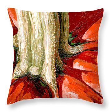 Pumpkin Stem Throw Pillow