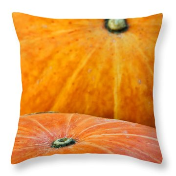 Pumpkins Background Throw Pillow by Carlos Caetano