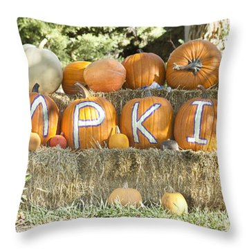 Pumpkins P U M P K I N S Throw Pillow by James BO  Insogna
