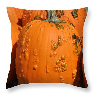 Pumpkinville Throw Pillow by Luke Moore