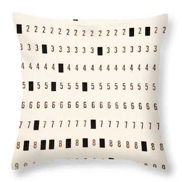 Punch Card Throw Pillow by Photo Researchers, Inc.