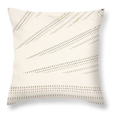 Punch Cards Throw Pillow by Photo Researchers, Inc.