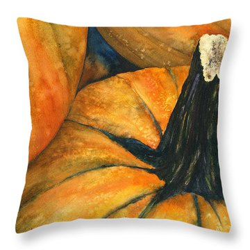 Punkin Throw Pillow by Casey Rasmussen White