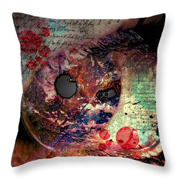 Pupil Of Pleasures  Throw Pillow by Empty Wall