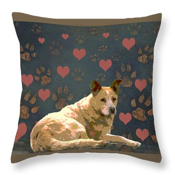 Puppy Love Throw Pillow by One Rude Dawg Orcutt