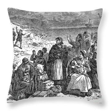 Puritan Flight Throw Pillow by Granger