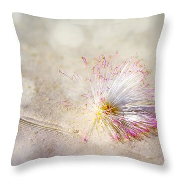Purity Throw Pillow by Jenny Rainbow
