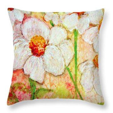 Purity Of White Flowers Throw Pillow by Ashleigh Dyan Bayer