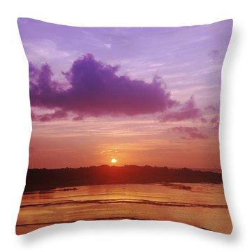 Purple And Orange Sunset Throw Pillow by Vince Cavataio - Printscapes