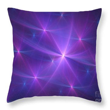 Purple Dreams Throw Pillow by Yali Shi