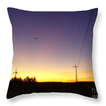 Purple Evening On The Island Throw Pillow