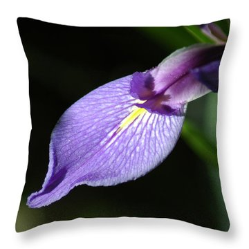 Japanese Iris Petal Throw Pillow