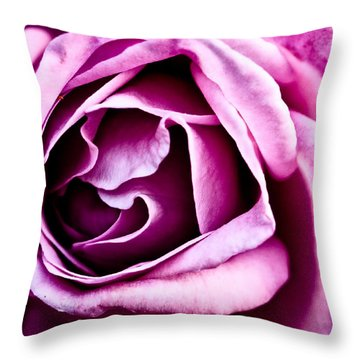 Purple Folds Throw Pillow by Christopher Holmes