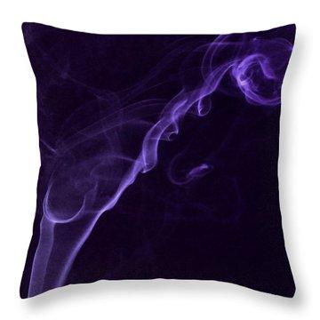 Purple Haze Throw Pillow by Paul Ward