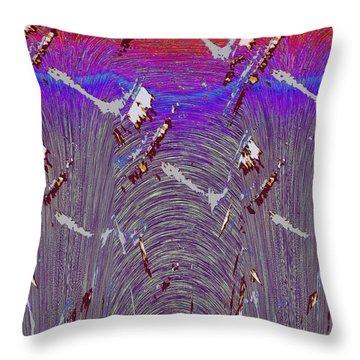 Purple Haze Throw Pillow by Tim Allen
