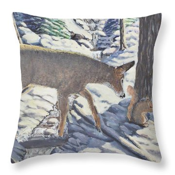 Purple In The Shadow Throw Pillow