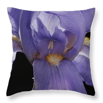 Throw Pillow featuring the photograph Purple Iris by Art Whitton