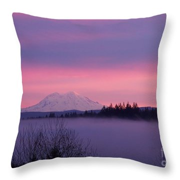 Throw Pillow featuring the photograph Purple Mountain Majesty by Chalet Roome-Rigdon