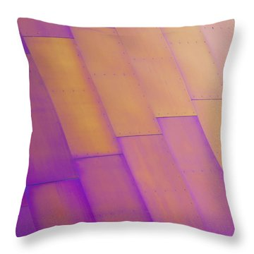 Purple Orange I Throw Pillow