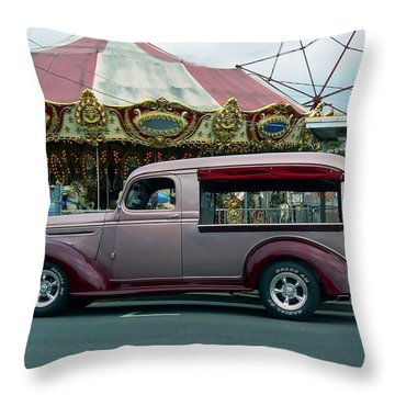 Purple Panel Throw Pillow by Pamela Patch