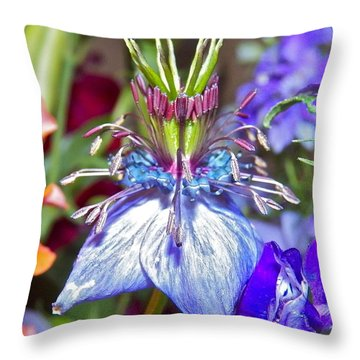 Throw Pillow featuring the photograph Purple Passion by Eve Spring