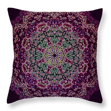 Purple Passion Mandala Throw Pillow