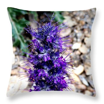 Purple Reign Throw Pillow by Dorrene BrownButterfield