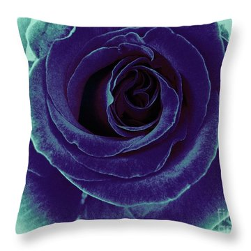 Throw Pillow featuring the photograph Purple Rose by Jasna Gopic