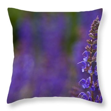 Purple Spires Throw Pillow by Trevor Chriss