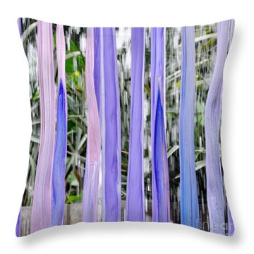 Purple Stripes Throw Pillow