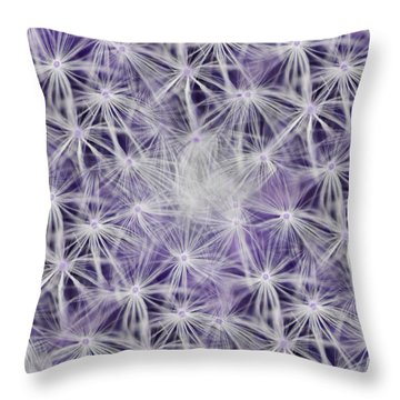 Purple Wishes Throw Pillow