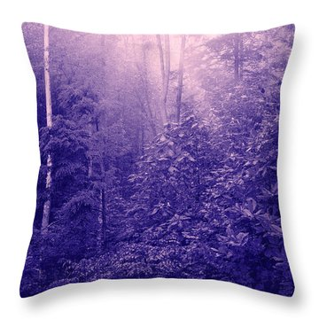 Purple Woods Throw Pillow by Nina Fosdick