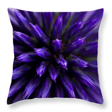 Purple Zoom Throw Pillow by Trevor Chriss