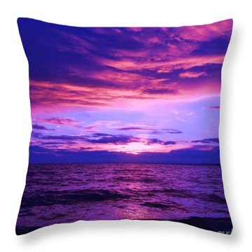 Purplosion Throw Pillow
