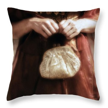 Purse Throw Pillow by Joana Kruse