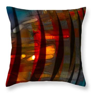 Pushing Paint  Throw Pillow by Stuart Turnbull