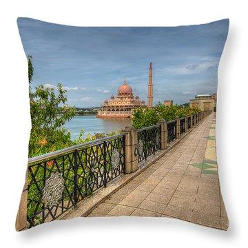 Putrajaya Lake Throw Pillow by Adrian Evans