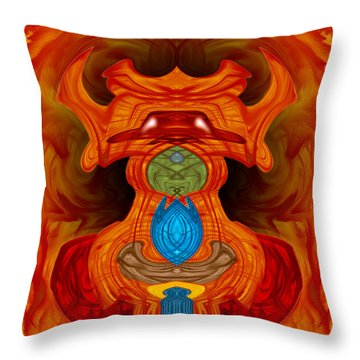 Pygmie Throw Pillow by Christopher Gaston