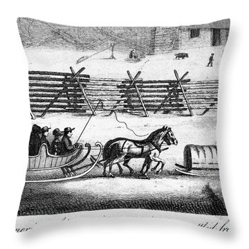 Quakers Going To Meeting Throw Pillow by Granger
