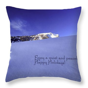 Quiet And Peaceful Christmas Throw Pillow by Sabine Jacobs