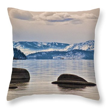 Quiet Lake Tahoe Throw Pillow
