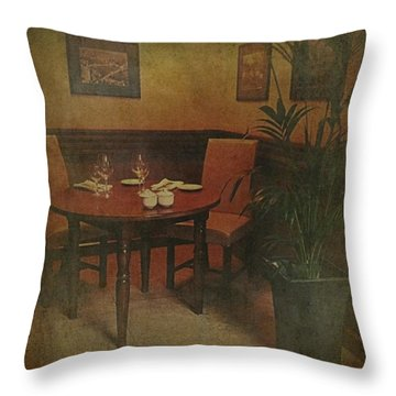 Quiet Nook In Hotel Dining Room Throw Pillow