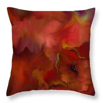 Quiet Passion Throw Pillow by Mathilde Vhargon