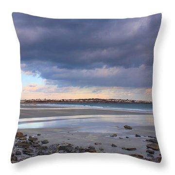 Quiet Winter Day At York Beach Throw Pillow by John Burk
