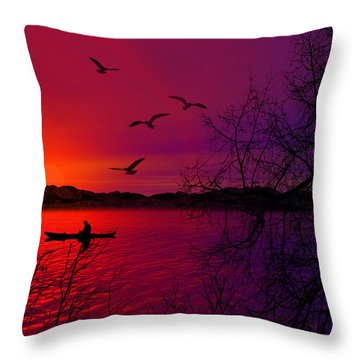 Quietude Throw Pillow by Lourry Legarde