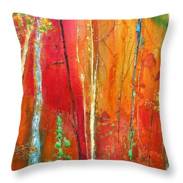 Throw Pillow featuring the painting Quinacridone Hollow  by Dan Whittemore