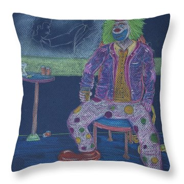 Quit Clowning Around Throw Pillow by Michael Mooney