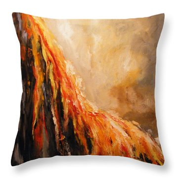 Quite Eruption Throw Pillow