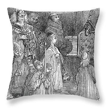 Rabelais: Papal Decretals Throw Pillow by Granger