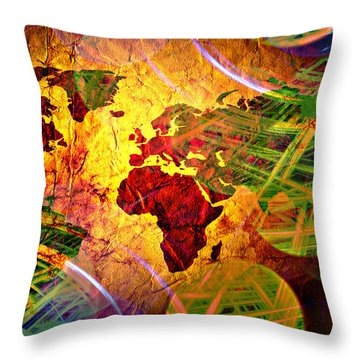 Races Of Race  Throw Pillow by Jerry Cordeiro